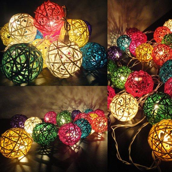Luzes coloridas para fazer em casa - Decoracion de hogar barata ...