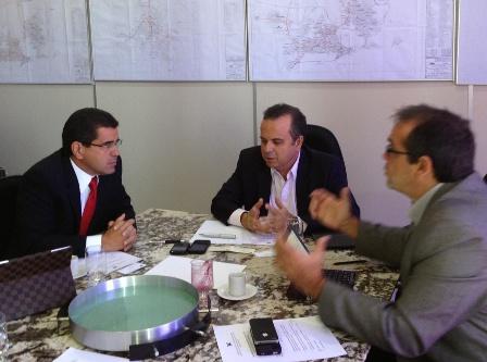 Secretários Ricardo Guterres, Rogério Marinho e o diretor da Abeeólica, empresário Pedro Cavalcanie