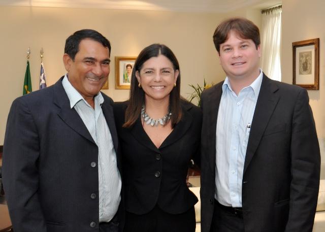 Prefeito Josemar e o vice, Marconi Lopes, solicitaram a Roseana recuperação de vias do Maiobão