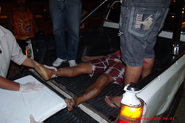 Paulo foi levado ao hospital em uma caminhonete, mas não houve  tempo para o socorro