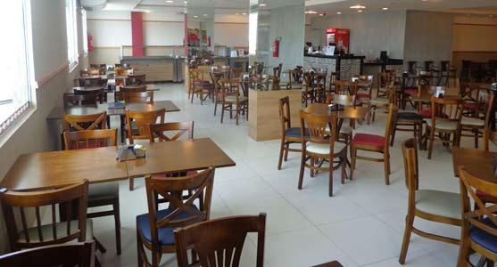 Instalações do novo restaurante do aeroporto de São Luís