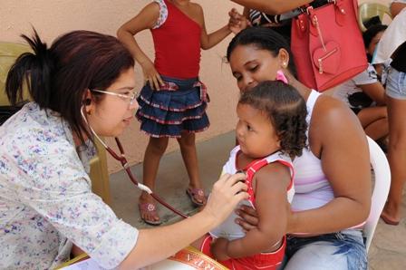 Crianças também receberão atendimento de saúde