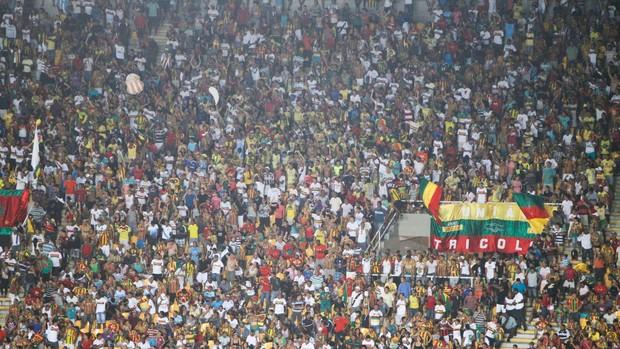 Torcida do Sampaio está fazendo a festa  com a classificação à semifinal e o retorno à Série B