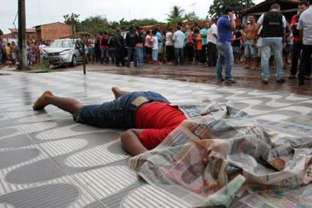 Um dos bandidos mortos em confronto com a polícia no Maiobão