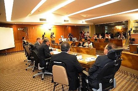 Membros da CPI dos combustíveis em mais uma audiência na AL