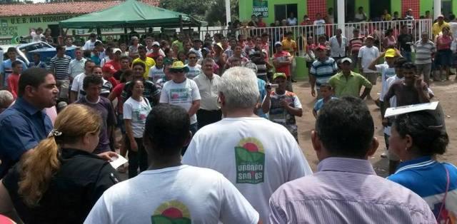Zé Inácio apresenta suas propostas a assentados de Urbano Santos e Belágua