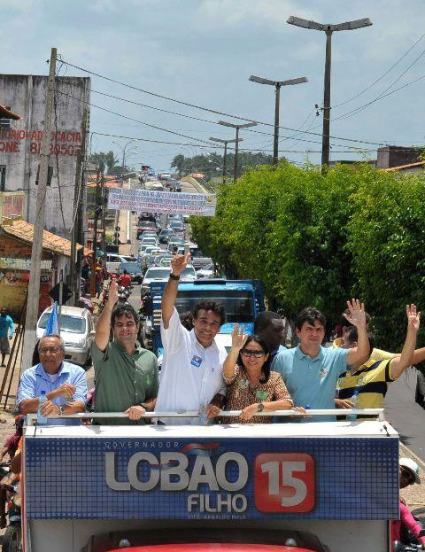 Lobão Filho liderou carreata, que parou Turilândia e fortaleceu nome do candidato na região