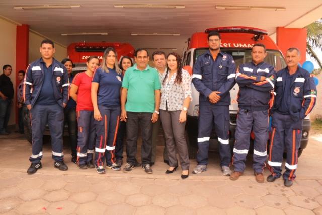 Equipe de socorristas do Samu responsáveis por atender a população de Paço do Lumiar