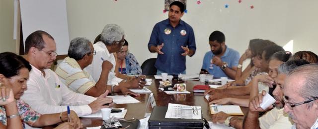 Zé Inácio destacou sua trajetória como militante político,social e sindical na reunião com a diretoria do Sindsep