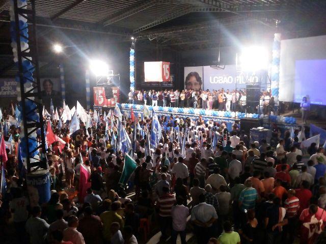 Ato político promovido por Lobão Filho na Batuque Brasil, com a presença do vice-presidente Michel Temer, registrou presença maciça de público