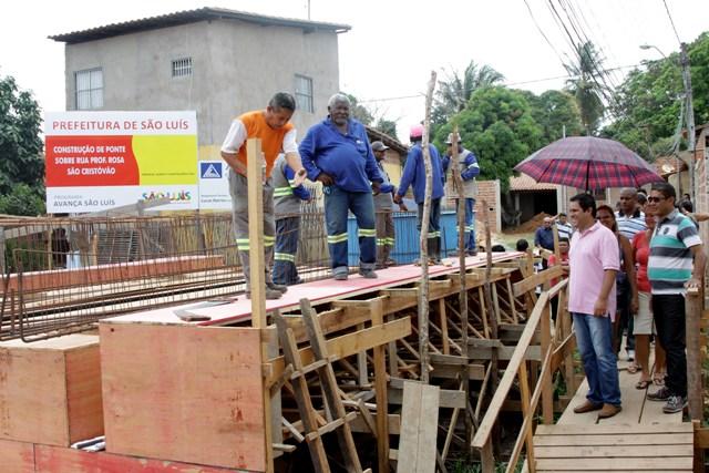 Prefeito Edivaldo vistoriou obras de trânsito e também de infraestrutura, como a Ponte do Baixão, no São Cristóvão