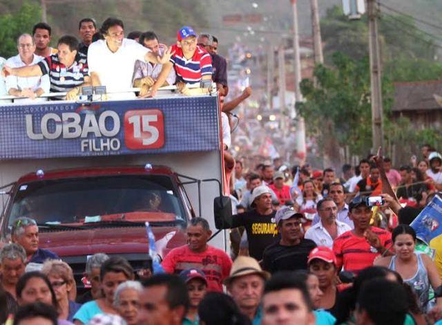 Carreata de Lobão Filho atraiu multidão, comprovando mais uma vez crescimento da campanha do peemedebista