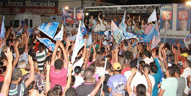 Comício de Lobão Filho em Estreito reuniu as principais lideranças políticas do Sul do Maranhão