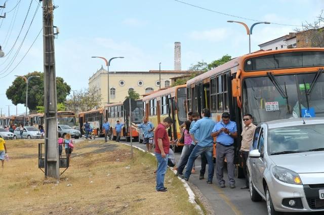 Protesto causou congestionamento quilométrico em todos os sentidos, a partir da Barragem do Bacanga