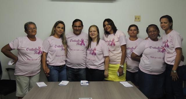 """Prefeito Josemar Sobreiro no lançamento da campanha """"Outubro Rosa"""", de combate ao câncer de mama, que tem como tema """"Mulher que é mulher se cuida"""""""