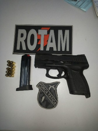 Pistola 380 apreendida em poder de adolesce