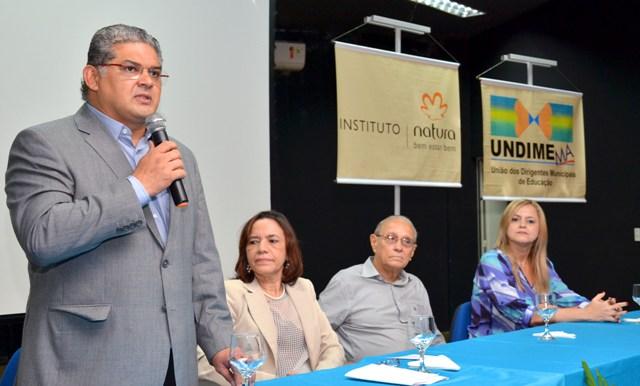 Geraldo Castro Sobrinho, presidiu a mesa de abertura do encontro da Undime