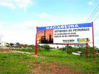Da refinaria restaram apenas a placa, o terreno e um prejuízo de quase R$ 2 bilhões