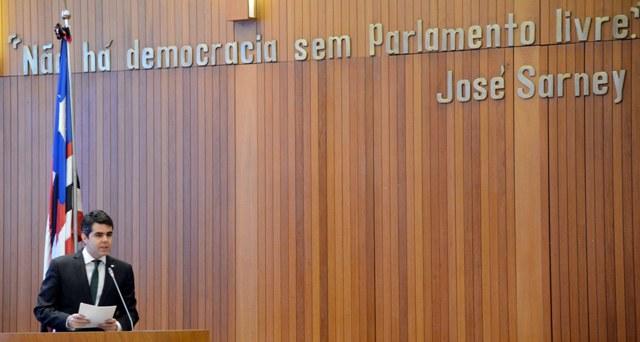 Adriano Sarney ocupou a tribuna para apresentar as suas ideias e metas como parlamentar e a sua percepção do papel da Assembleia Legislativa na sociedade