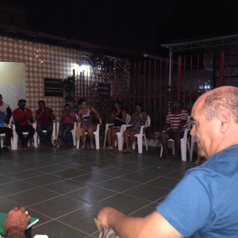 Astro de Ogum reuniu lideranças comunitária em sua casa, no Barreto