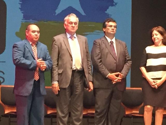 Presidente da Câmara Municipal, Astro de Ogum, ao lado do ministro da Cultura, Juca Ferreira, do governador Flávio Dino e da presidente do IPHAN, Jurema Machado