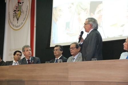 Reitor Natalino também deu as boas vindas à nova turma de médicos que atuará no Maranhão
