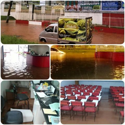 Instalações do Curso Wellington do Renascença foram inundadas, causando prejuízo incalculável