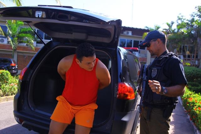 Erinaldo na época em que foi preso pelo assassinato dos irmãos Queiroz