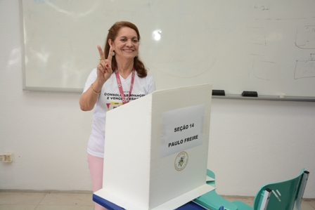 Candidata a reitora ressaltou o percurso de campanha e a confiança no resultado do pleito