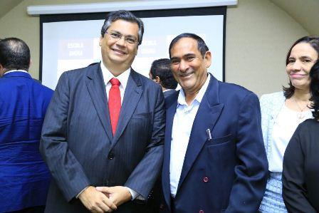 Prefeito de Paço do Lumiar, Josemar Sobreiro, com o governador Flávio Dino
