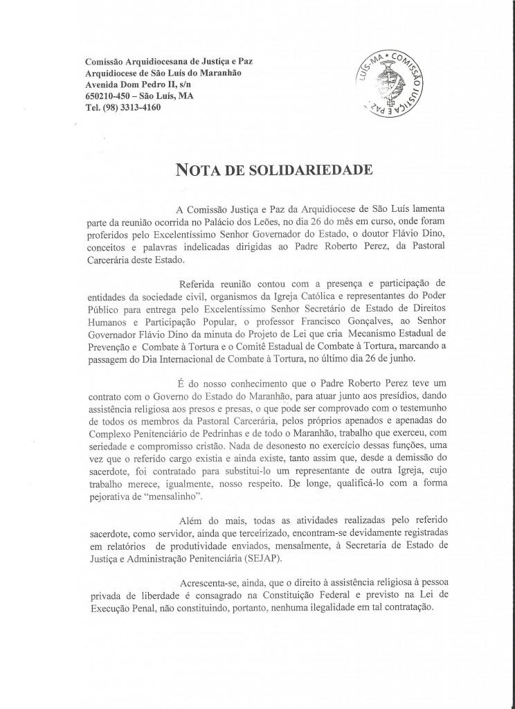 nota arquidiocese