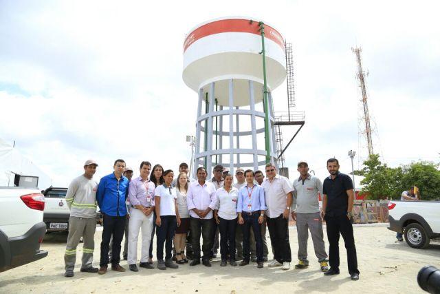 Prefeito Josemar e auxiliares conheceram novo sistema de abastecimento de água do Maiobão