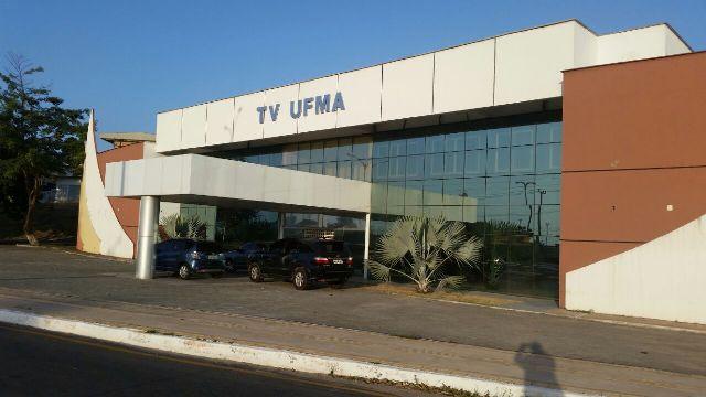 Fachada da TV UFMA, que realiza uma pesquisa de opinião com estudantes, técnicos administrativos, professores e a sociedade em geral para construir, coletivamente, o telejornal da emissora