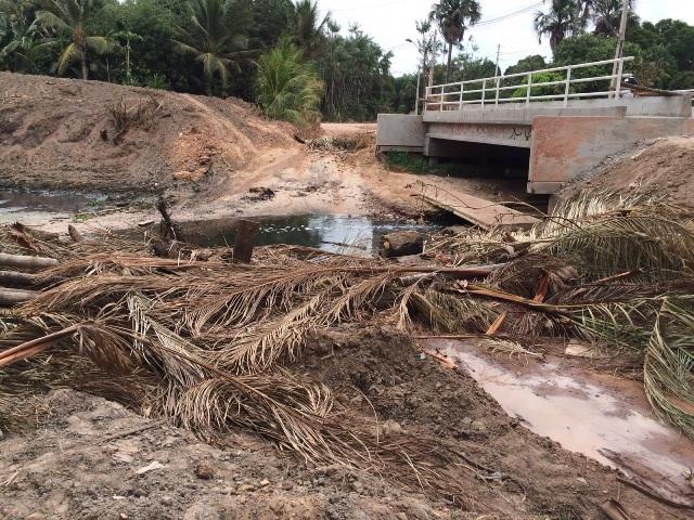 Construção da ponte sobre o rio Gangan foi anunciada e lançada duas vezes, mas até hoje obra não se concretizou