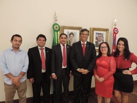 Zé Inácio e a prefeita Belezinha com o governador Flávio Dino e Márcio Jerry