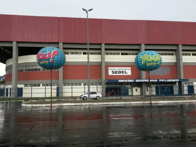 Secretaria de Estado de Desportos e Lazer funciona no Ginásio Georgeana Pflueger, o Castelinho
