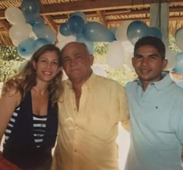 Beto com o pai, Raimundo Silva Costa, o Pixuta, que foi prefeito de Matinha por três mandatos