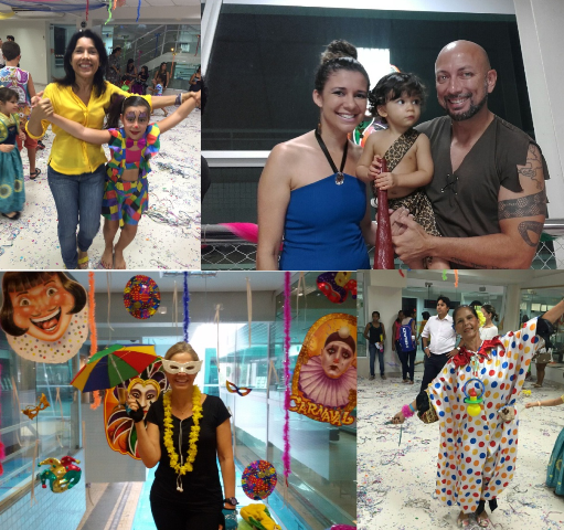 Muita animação marcou festa de Carnaval promovida pela escola Viva Água