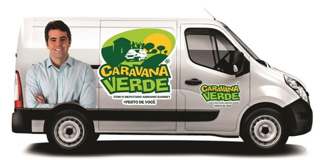 A Caravana Verde é um projeto desenvolvido por Adriano com objetivo de ampliar o diálogo com a população