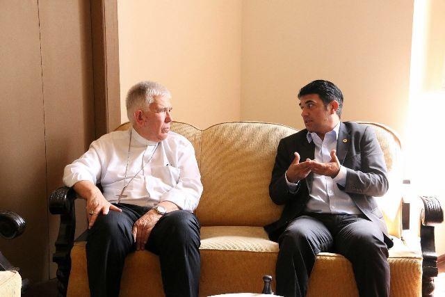 Visita de Wellington ao arcebispo Dom Belisário foi à primeira de uma série de encontros com lideranças