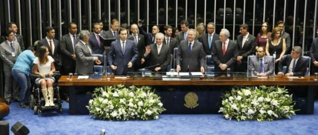 Michel Temer assumiu a Presidência da República em definitivo com a cassação de Dilma Rousseff, por 61 votos favoráveis contra 20 contrários