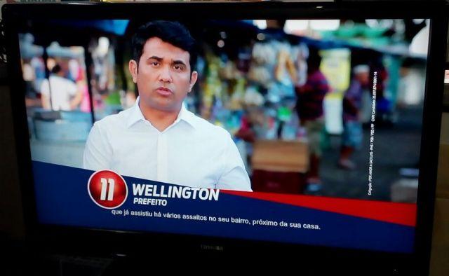 Primeiro a parecer no horário eleitoral, Wellington relembrou história de vida