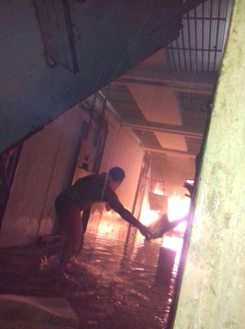 Preso rebelado incendeia corredor do Cadeião de Pedrinhas