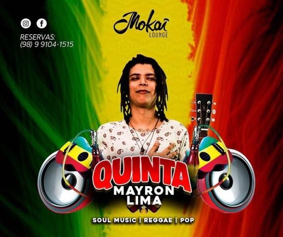 O cantor Mayron Lima que se apresenta nessa quinta (22.03) no Mokai Louge  Bar a976d7bf603d7