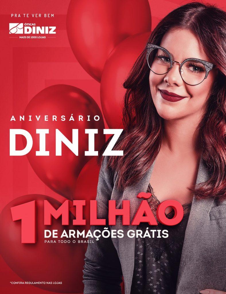 34506c3fb8e01 Óticas Diniz comemoram aniversário com