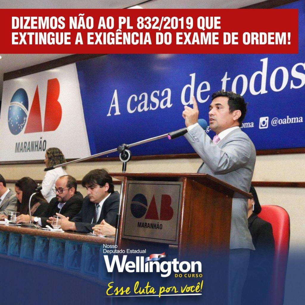 Deputado Wellington do Curso posiciona-se a favor da permanência da prova da OAB