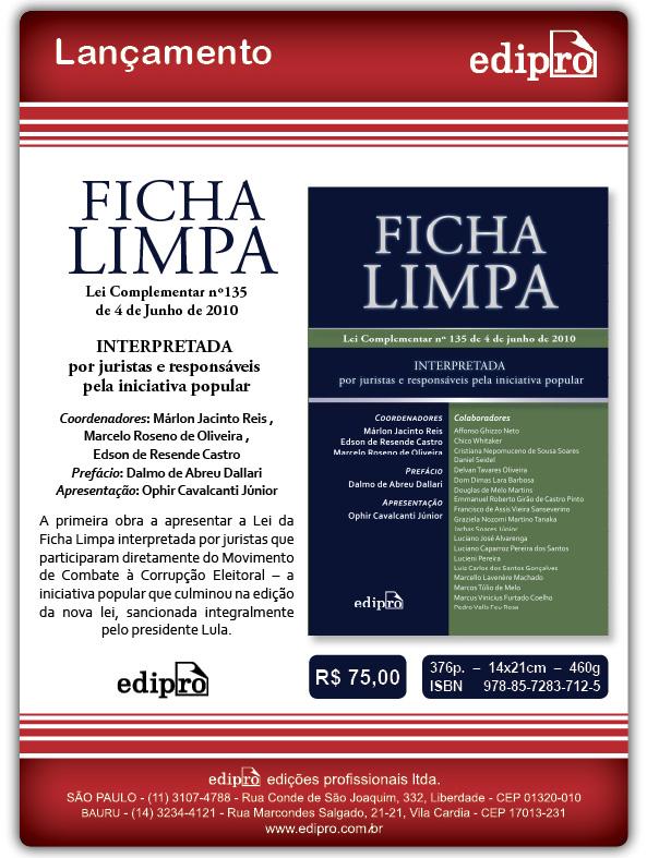 Livro Ficha Limpa