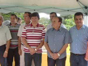 Sebastião Madeira, Léo Cunha, Hamilton Miranda e secretários (Foto/ASCOM)