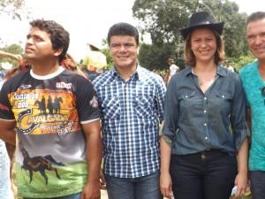 Vereador Júlio Cesar, Deoclides Macedo e deputada Valéria (Foto/M. Rodrigues)