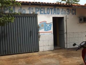Sede do Destacamento da PM em Ribamar Fiquene (Foto - Divulgação)